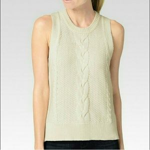 PAIGE Jean's Guinevere Sweater Cable Knit Pullover